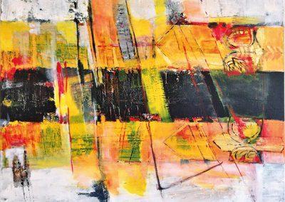 Doorsnijding – acryl op canvas – 80 x 80 cm