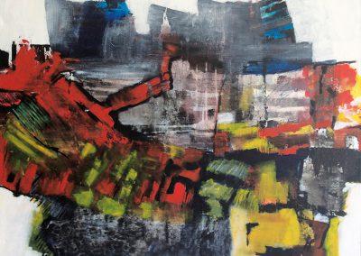Verstedelijking – acryl op canvas – 80 x 100 cm