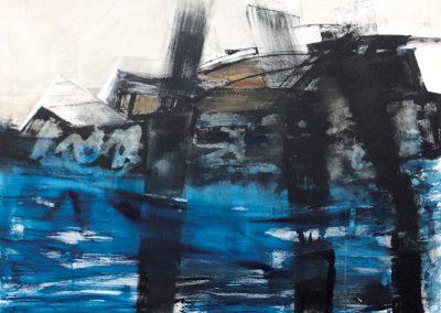 Keer de deining – acryl op canvas – 70 x 100 cm