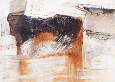 Opgegraven – acryl op canvas – 40 x 50 cm