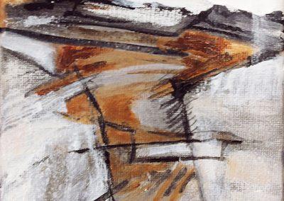 Ruig landschap 1 – acryl op canvas – 15 x 15 cm
