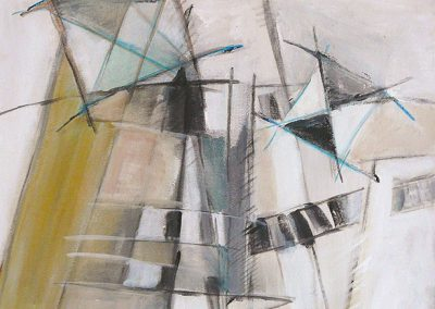 Toenadering – acryl op canvas – 40 x 40 cm