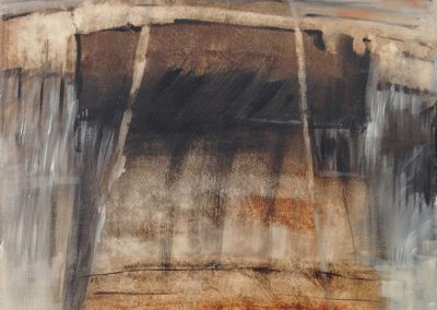 Opgebouwde lagen – acryl op canvas – 40 x 50 cm