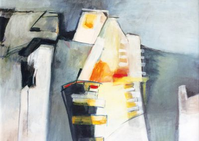 Afgesloten 2 – acryl op canvas – 100 x 100 cm