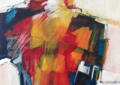 Samengevoegd – acryl op canvas – 100 x 100 cm