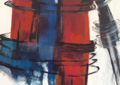 Vicieuze cirkel – acryl op canvas – 100 x 100 cm