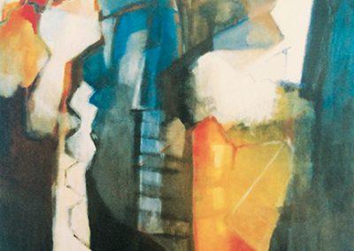 Trapsgewijs – acryl op canvas – 160 x 120 cm