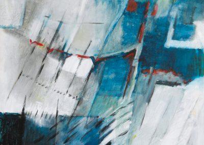 In hokjes ingedeeld – acryl op canvas – 60 x 90 cm