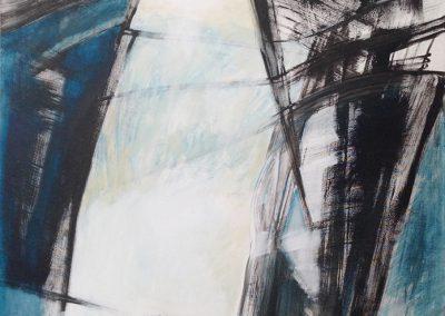 Geef elkaar de ruimte – acryl op canvas – 100 x 140 cm