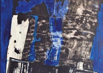Drooggelegd – acryl op canvas – 60 x 80 cm