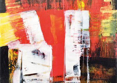In tweeën gesplitst – acryl op canvas – 15 x 15 cm