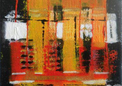 zonder titel – acryl op canvas – 15 x 15 cm