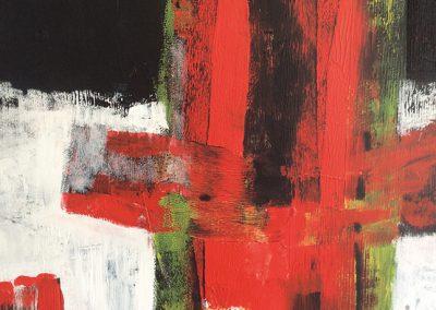 Ondergronds 1 – acryl op canvas – 70 x 85 cm