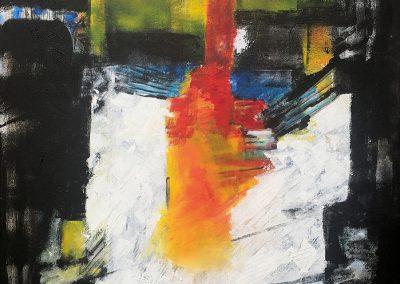 Ondergronds 4 – acryl op canvas – 70 x 85 cm