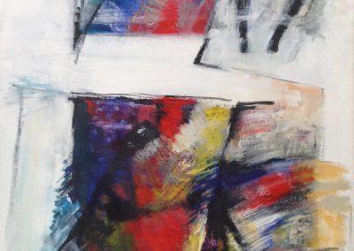 Verschoven – acryl op canvas – 60 x 100 cm