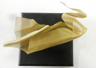 Gevouwen - messing gaas - 15 x 15 cm