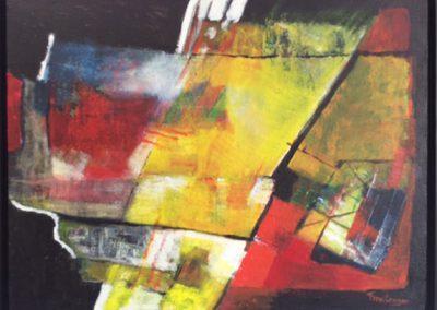 Laag over laag – acryl op doek – 50 x 70 cm
